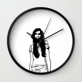 girl girl Wall Clock