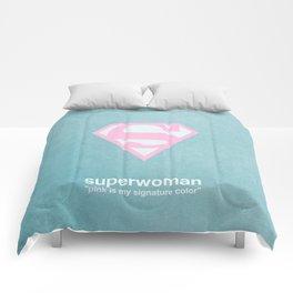 Superwoman - Breast Cancer Awareness Comforters