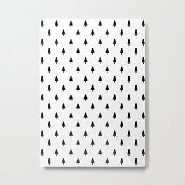 Trees, Scandinavian, Minimal, Pattern, Modern art Metal Print