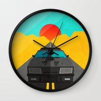 mad max Wall Clocks featuring Max is Mad by Bakus