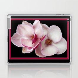 tulip magnolia twins (black bg) Laptop & iPad Skin