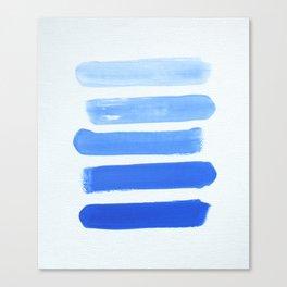 Shades of Blue Canvas Print