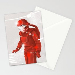 Hiroko in Storm // (astronaut girl) Stationery Cards