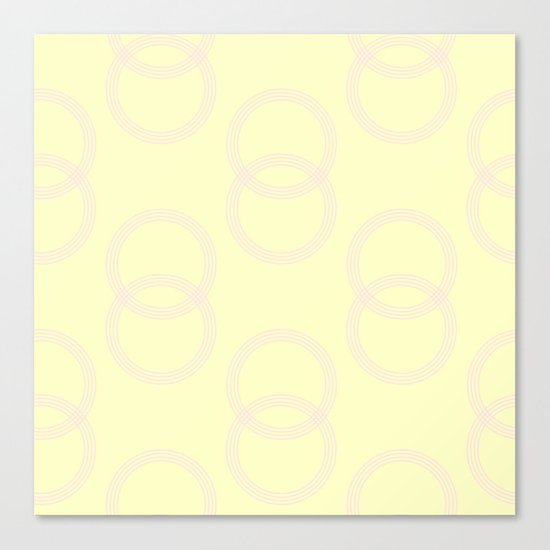 Simply Infinity Link Pink Flamingo on Pale Yellow Canvas Print
