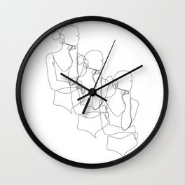 Woman Pose Repetition Wall Clock