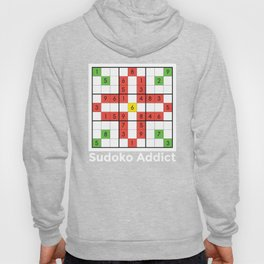 Sudoko design Gift for Fans of the Japanese Puzzle Game Hoody