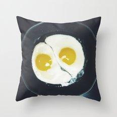 Yin-yang breakfast Throw Pillow
