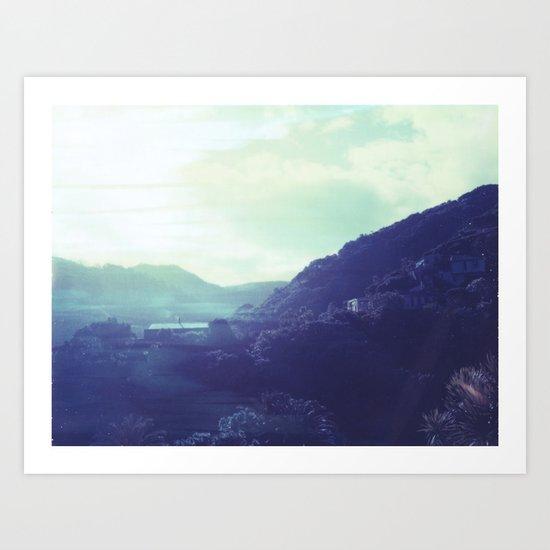 Kitekite Falls Polaroid Art Print