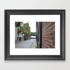 Street/Brick/Old Town/Ocean Framed Art Print