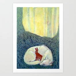 Insomniatic Hare Art Print