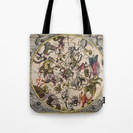 Keller's Harmonia Macrocosmica - Northern Celestial Hemisphere 1708 Tote Bag