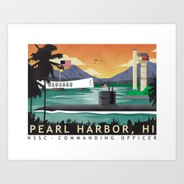 Pearl Harbor NSSC CO Art Print