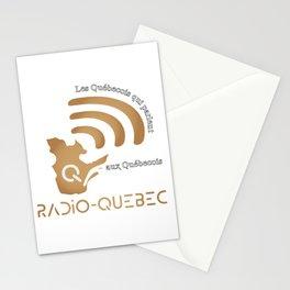 Radio-Quebec - Les Quebecois parlent au Quebecois Stationery Cards