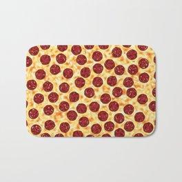 Pepperoni Pizza Pattern Bath Mat