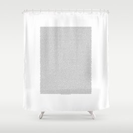 Entire script of Bee Movie Shower Curtain