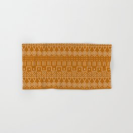 Mudcloth Style 1 in Orange Hand & Bath Towel