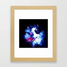 jack russell terrier dog crazy eyes ws cb Framed Art Print