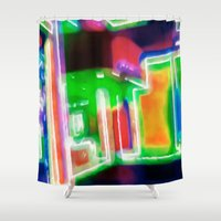 shopping Shower Curtains featuring Window Shopping by Ray Cowie