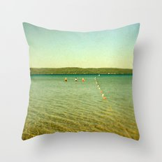 Bathing Beauties Throw Pillow