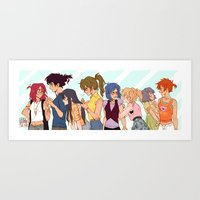 johannathemad Art Prints featuring girls girls girls by JohannaTheMad