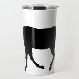 Walking Thoroughbred Silhouette Travel Mug