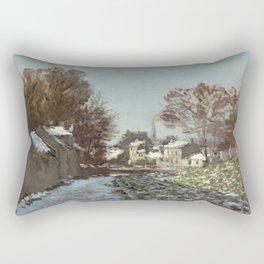 Snow at Argenteuil Rectangular Pillow
