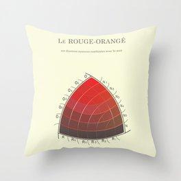 Le Rouge-Orangé (ses diverses nuances combinées avec le noir) Remake Throw Pillow