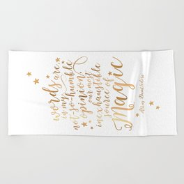 Dumbledore's Magic Words Beach Towel