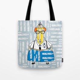 Pencil Neck Geek Tote Bag