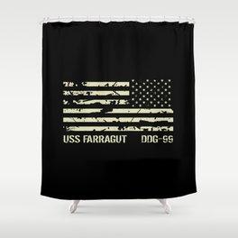 USS Farragut Shower Curtain