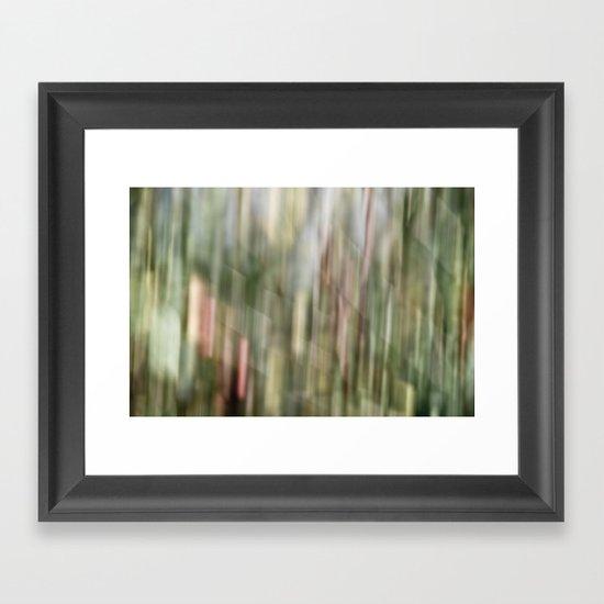 autumn blur Framed Art Print