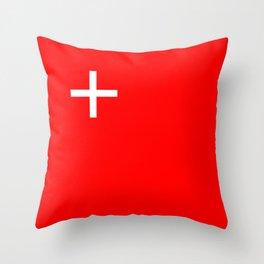 Schwyz region switzerland country flag swiss Throw Pillow
