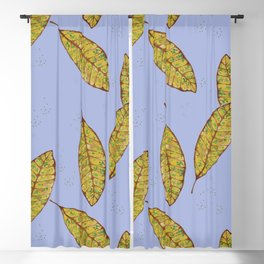 Scattered Leaves Blackout Curtain