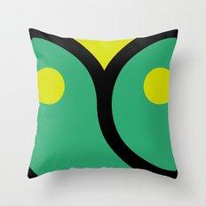 face 4 Throw Pillow