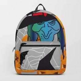 Witch bats pumpkin Halloween Backpack