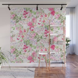 Vintage & Shabby Chic - Pastel Spring Flower Medow Wall Mural