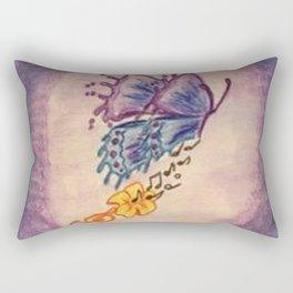 Music Trumpet Flower Butterfly  Rectangular Pillow