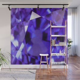 RUSSIAN PURPLE AMETHYST FEBRUARY BABY'S BIRTHSTONE ART Wall Mural