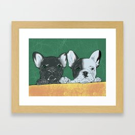 bouledogue au revoir Framed Art Print