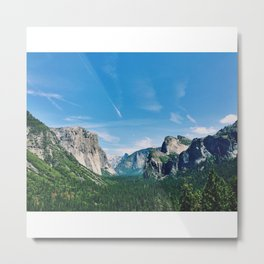 Yosemite Tunnel View Metal Print