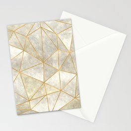 Geometric Mother of Pearl Stationery Cards
