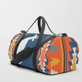 Deer winter pattern Duffle Bag