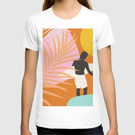 Noon Surfer Abstract Minimalism #1 #minimal #decor #art #society6 T-shirt