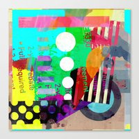 good vibes Canvas Prints featuring Good Vibes by Lynsey Ledray