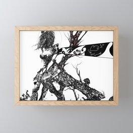 Dark line message (Figure Art, Female.) Framed Mini Art Print