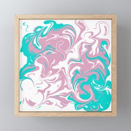 Trans Pride Marbled Framed Mini Art Print