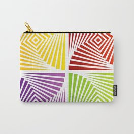 Colorful Squares twirling from the Center. Optical Illusion of PerspectiveColorful Squares twirling Carry-All Pouch