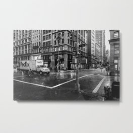 Rainy New York City Metal Print