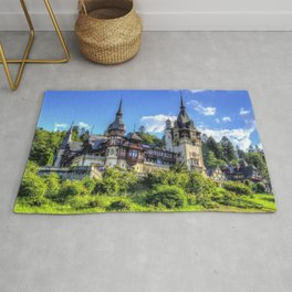 World Popular Romantic Fairytale Peleș Castle Sinaia Romania Europe Ultra HD Rug