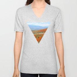 Golden Hillside Unisex V-Neck